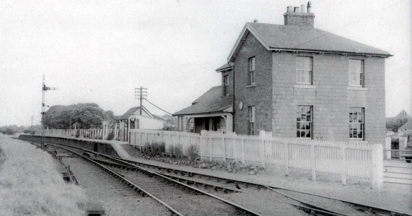 Abbeytown Railway Station 1953