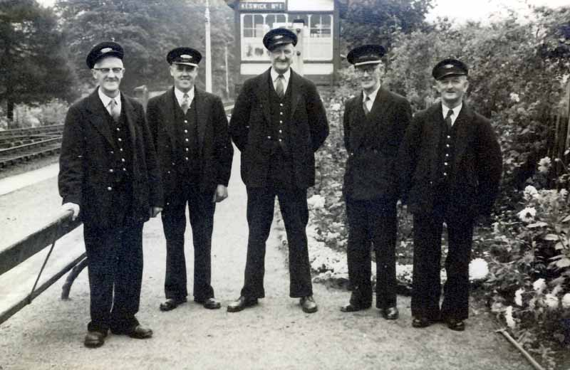 Cumbria Railways - Keswick Station Staff 1956
