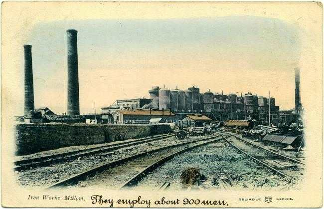 Cumbria Railways - Millom Iron Works 1905